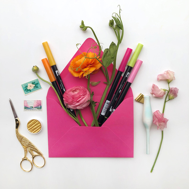 Some of my favorite calligraphy and hand lettering supplies!